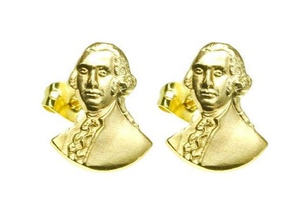 GEORGE WASHINGTON Vintage Stud Earrings