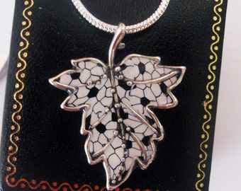 Beautiful 925 Silver Ivi Leaf  pendant  Chain by Jewelry Designer Orly