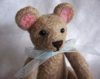 SALE: Needle felted Teddy Bear - Benjamin