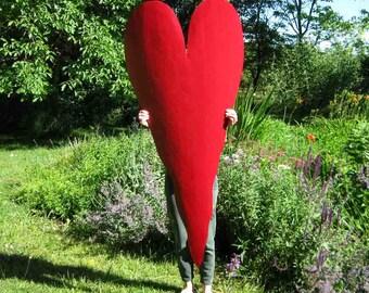 Metal art huge wall heart sculpture reclaimed metal indoor outdoor wall large love decor red