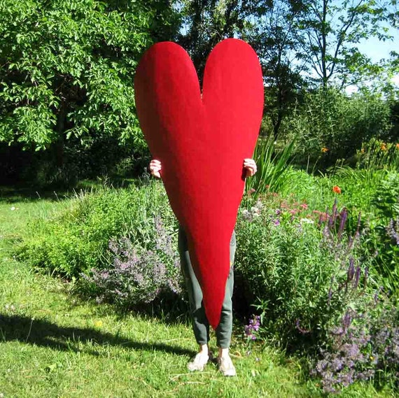 Metal Art Huge Wall Heart Sculpture Reclaimed Metal Indoor