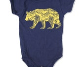 Baby One-Piece California BEAR -  american apparel (3 Color Options) - FREE Shipping