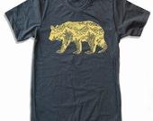 Mens California BEAR T Shirt american apparel S M L XL (16 Color Options)