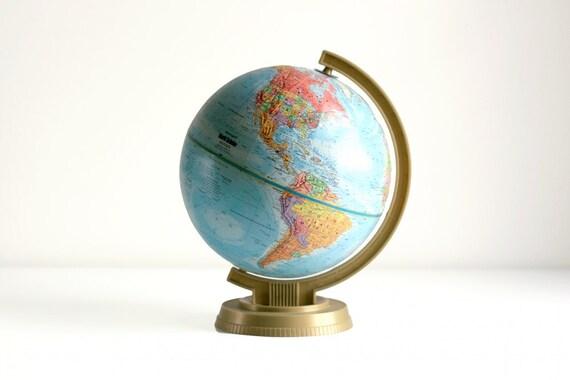 Vintage 60s Replogle Relief Globe