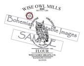PDF Pattern for Printable Reproduction Flour Sack Image 4 sizes Wise Owl Milling Co Flour Sack