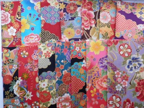 Japanese Fabric - Scraps 14 pieces (462)