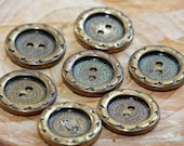 Charming Vintage Copper Sun Flower designed Sew-Through Buttons (7)