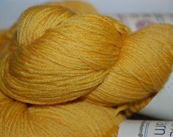 Studio June Yarn Super Cash Sock - Cashmere, Superwash Merino, Nylon - Color:  Honey Mustard (lot A)