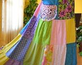 Crochet Dollie Pocket Gypsy Hippie Patchwork Skirt  Low Price Sale