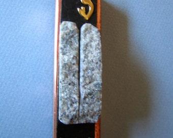 Ten Commandments Mezuzah Case in Copper with Granite