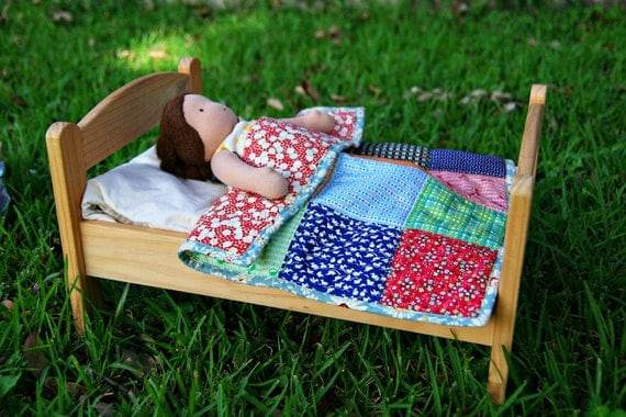 SALE - a patchwork quilt for dolls - waldorf inspired play