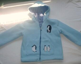 Size 6 Penguin Fleece Jacket with Hood