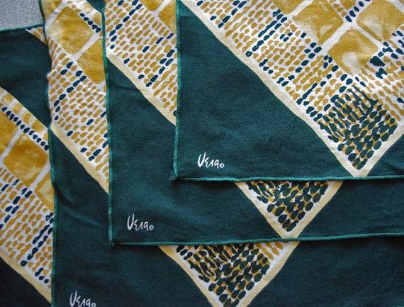 Unusual Earthy Ethnic Design Set of four (4) Vera Napkins