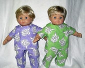 Bitty Baby Twins  Two Sets Whimsical Bunny Pajamas  Bitty Twins are ready for bed