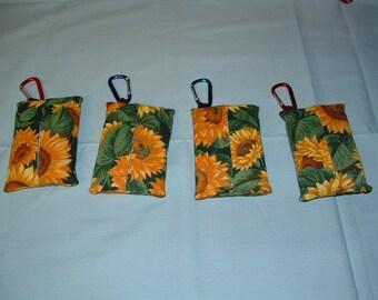 Sunflower Tissue Holder With Clip