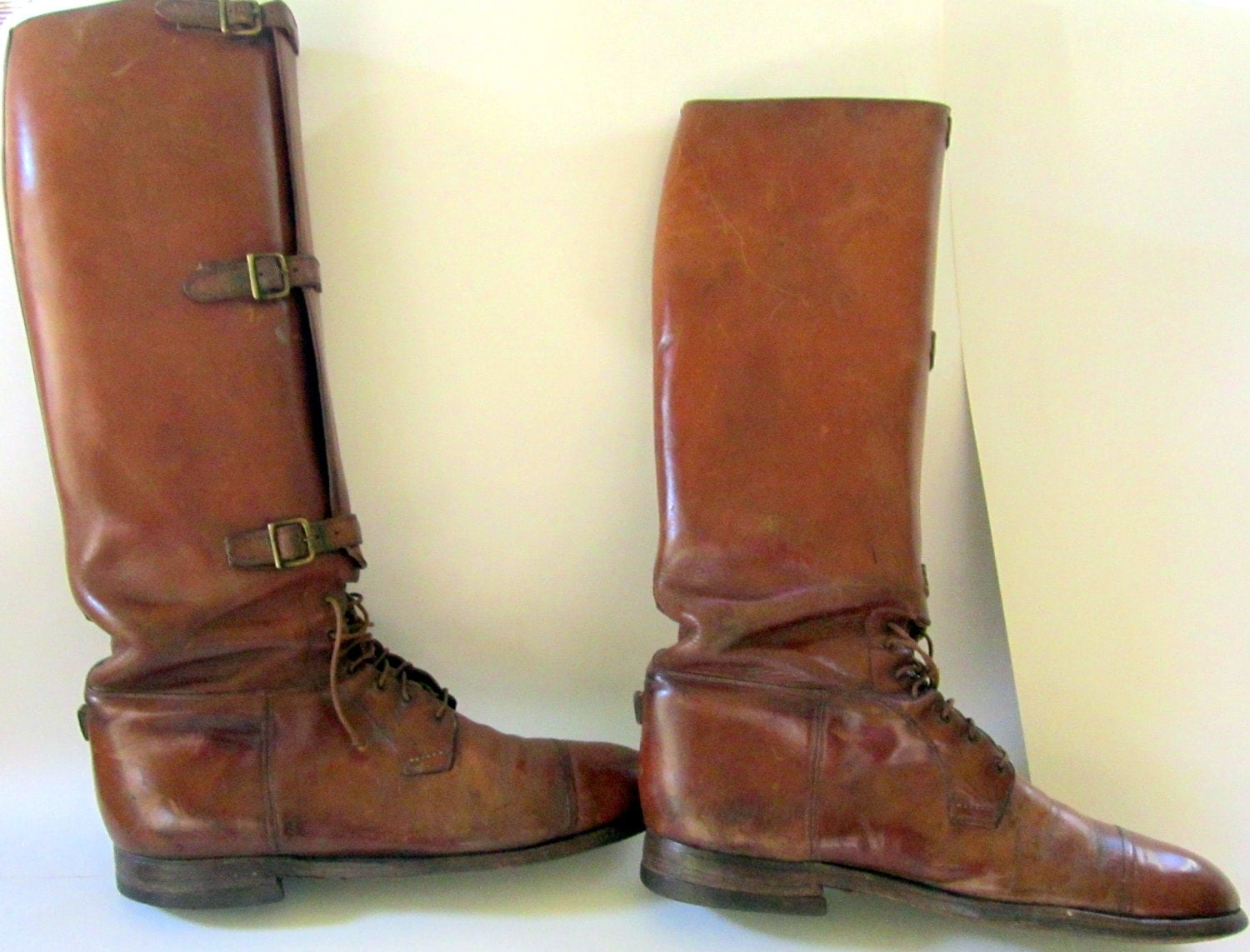 Antique US Army Riding Boots Leather Calvary Teitzel Jones WWI