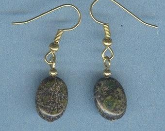 Dragons Blood Jasper Gemstone Earrings