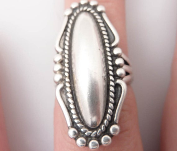 Vintage Native American Sterling Ring Size 6