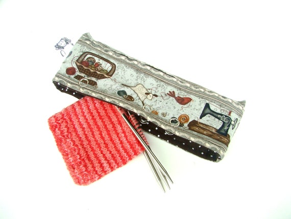 Stitch Holder Point Protector Zipper Pouch - DPN & Circular Project Holder - Stitch and Weave