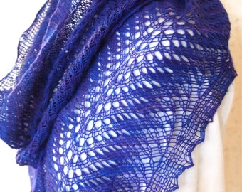 Instant Download pdf Hand Knitting Pattern - Feather Scarf