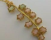 Vintage Repurposed Pastel Moonglow Necklace