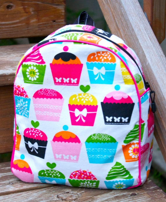 Cute Cupcakes Toddler Backpack - fully lined