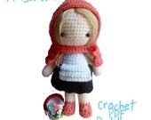 Instant Download Amigurumi Crochet PDF Pattern - Little red riding hood