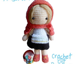 Instant Download Amigurumi Crochet PDF Pattern - Little red riding hood