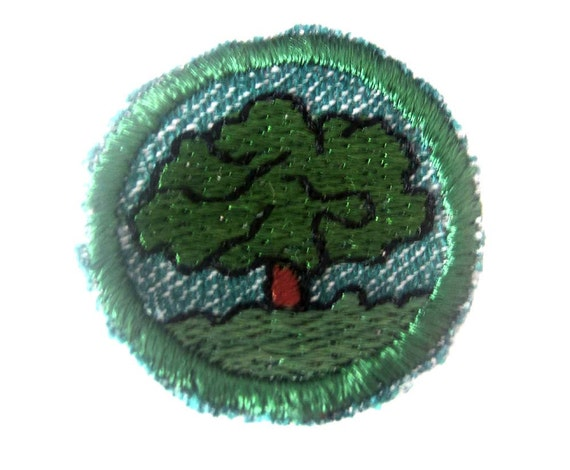 1950's Tree Finder Intermediate Girl Scout Badge Patch