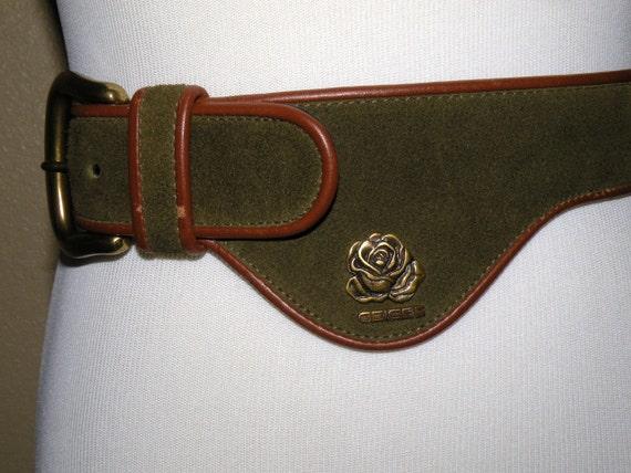 GEIGER Beautiful Green Suede Leather GERMAN Belt