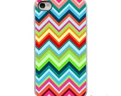 On Sale! Zig Zag Chevron with White, Black or Clear Sides iPhone Case - IPhone 4, 4S, 5, 5S, 5C Hard Cover - Fun Unique Trendy artstudio54