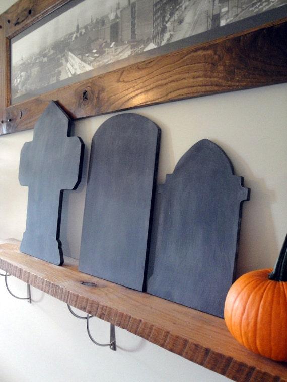 Halloween Tombstone Chalkboard Trio - Ready to Ship