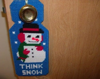 Snowman Door Hanger, Christmas Decor Door Hanger, Winter Decor Door Hanger