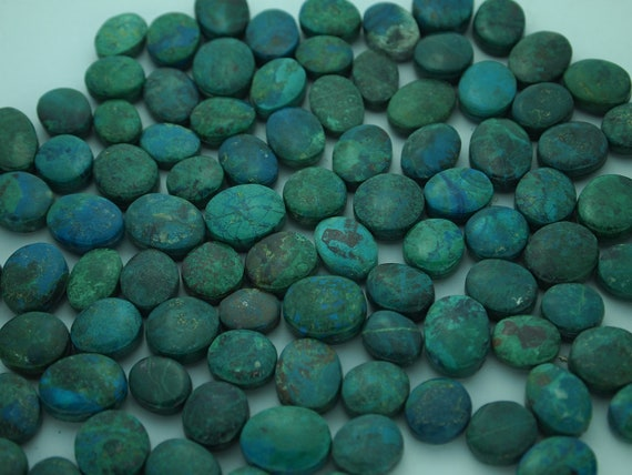 Genuine Round and Oval Turquoise Cabochons Total of 96
