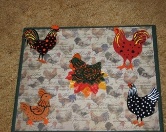 Chicken Wall Art  OOAK Handmade & Painted by CT