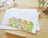Alamo Square Greeting Card - San Francisco, Golden Gate Bridge, California, Victorian House, Blank, Card, Holiday, Gift
