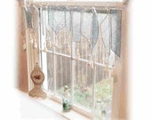 Fresh as a Sea Breeze Frosty Stained Glass Window Treatment Valance