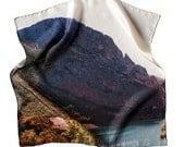 Sierra 2 - 43x43 Silk scarf - Digital printed - Hand stitched
