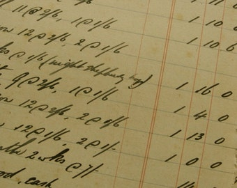 Stunning Victorian 1909-1922 Ledgers Over 100 Years Old