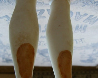 Antique Porcelain Rare Large Fancy Victorian Doll Legs Unit 58