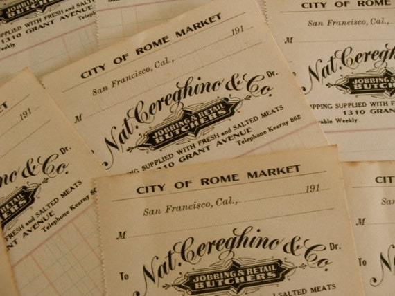 5 Stunning 100 Year old Market Ledgers Lot Last One