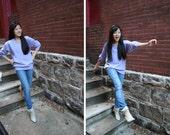 Lavender Cashmere Sweater : Vintage Purple Pullover S,M,L,XL