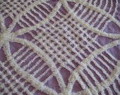 Plush Lavender Wedding Ring Vintage Chenille Fabric