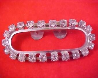 ART DECO  CIRCA 1930's  Diamante  Prong Set Purse - Evening Bag  Clip