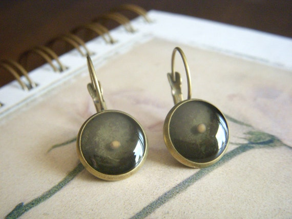 faith as small as a mustard seed - antique bronze resin mustard seed leverback earrings