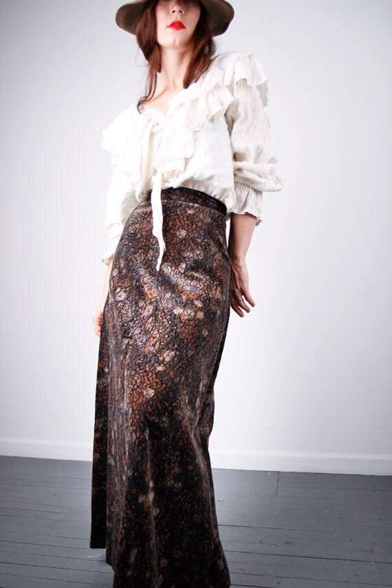 Velvet LIBERTY style skirt for petite XS