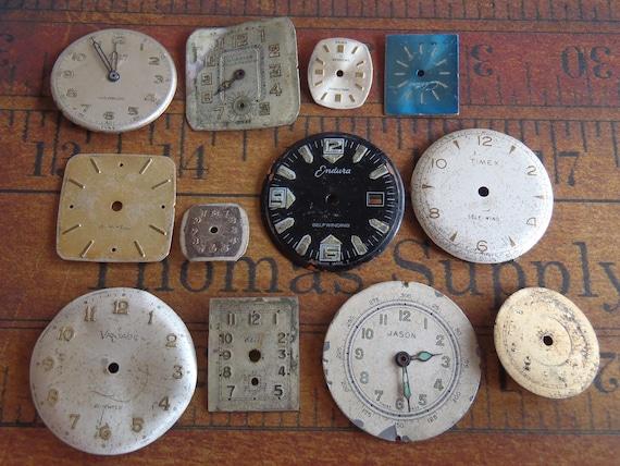 Watch Faces - Featured - Vintage Antique Watch faces -  Assortment Faces - Steampunk - Scrapbooking m4