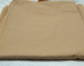 2.3 yards beige Cotton  fabric sewing crafting projects