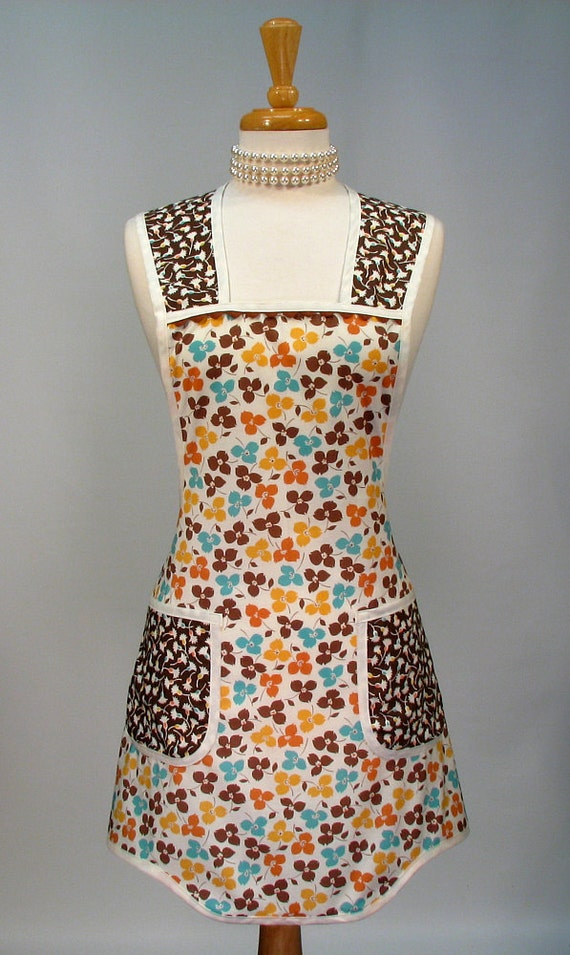 Womens Full Apron Retro Vintage Inspired Everyday Classic