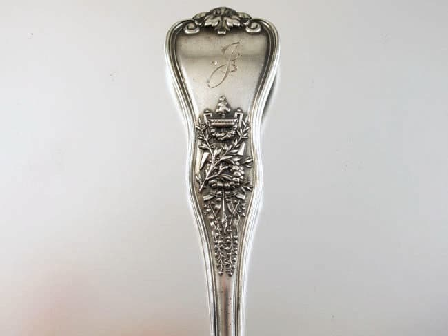 Tiffany & Co Patent 1878 Olympian Victorian sterling silver 7 inch fork